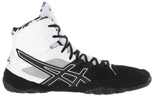 ASICS Men's Cael V7.0 Wrestling Shoe, Black/Onyx/White, 10 M US