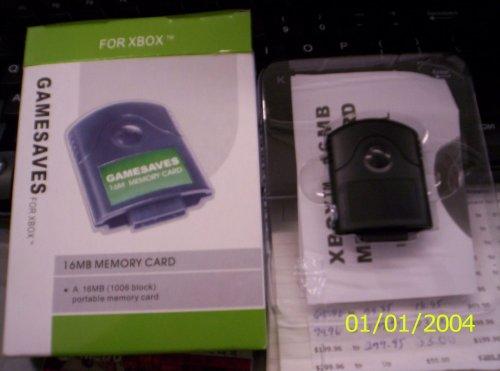 Xbox Memory Card - XBOX GAMESAVES 16MB MEMORY CARD