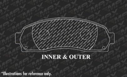 OE Series Rotors + Ceramic Pads Max Brakes Front Premium Brake Kit KT097741 Fits: 2010 10 2011 11 Ford Ranger 2WD Models