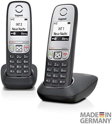 Gigaset A415 Duo - Teléfono inalámbrico (DECT, 50 m, 300 m, 100 entradas) negro: Amazon.es: Electrónica