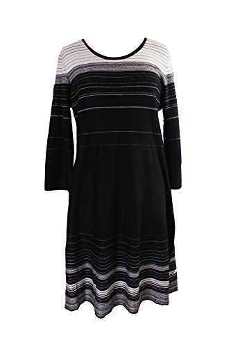 Nine Damen Ivory Black Kleid West rYRwSYAq