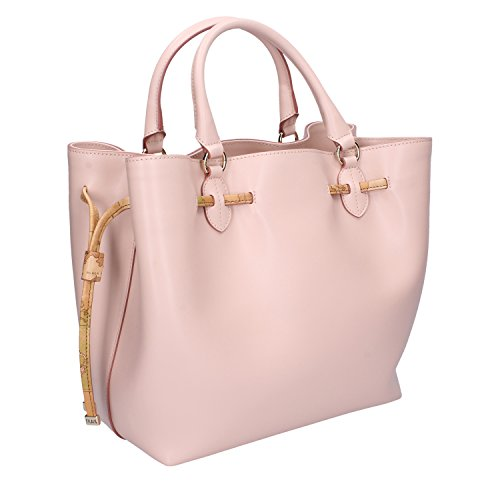 Borsa 1 Donna Leather Bovine CLASSE ALVIERO mano Leather Tracolla MARTINI Medium a Ovine Rosa Tq5waxtx6