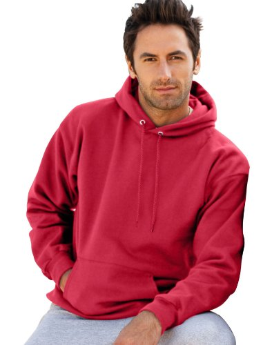 Hanes Ultimate Cotton™ - 10-Ounce Pullover Hooded Sweatshirt. F170, Red 2XL