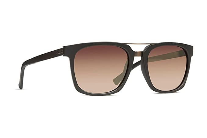9ef0241fb4044 Image Unavailable. Image not available for. Color  VonZipper Plimpton  Sunglasses Black Satin with Rust Gradient Lens