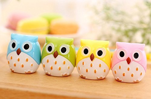 Bestsupplier 4 PACK Cute Pencil Sharpener (Owl) Creative Stationery School Prize -