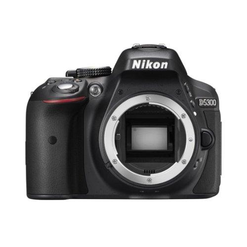 Nikon D5300 Digital SLR Camera (Black) with AF-S DX 18-55mm VR II and AF-S DX 55-200mm VR II , Double Zoom Kit with Card, Camera Bag