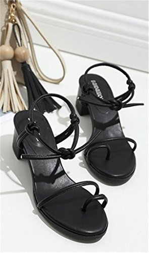 MNII Summer Flat Shoes Fashion Toe Black Women Strapscasual summer Sandals Fashion RqBWRaHr