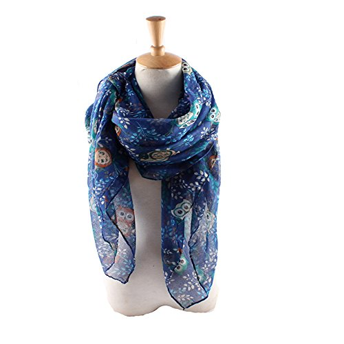 Owl Scarf - ctshow The owl Print Voile Print Scarf Fashionable Women Scarves