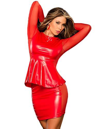 Spogliarellista Manica Rosso Mutande Bbigliamento Donne Spogliarellista Calda Da Lunga Dress Vendita Club qw0EP4n