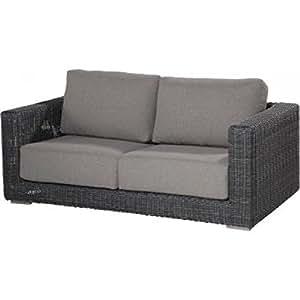 4Seasons Outdoor Somerset de 2,5plazas sofá para Polirratán Charcoal Wicker