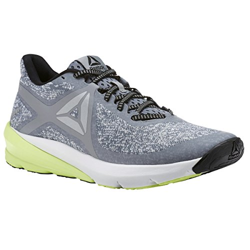 Reebok Men's GRASSE Road Sneaker, Flint Skull Grey/Electric Flash/Black/White/Silver, 12 M US