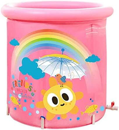 子供大人用バスタブ肥厚インフレータブルバスタブ大人用バケツ家庭用ポータブルバケツ浴槽80X80cm(カラー:ブルー)