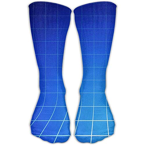 Personalized Cool Athletic High Socks Stockings Blue Plaid Novelty Sports Crew Tube Knee Sock ()