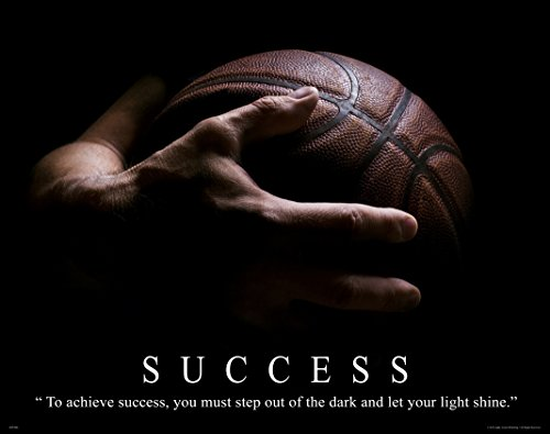 Basketball Motivational Poster Art Print Classroom College Aau Lakers Bulls Heat Wall Decor Pictures