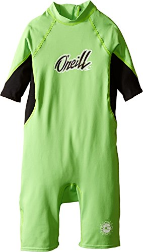 O'Neill Wetsuits UV Sun Protection Toddler Boys O'Zone Spring Suit, Day-Glo/Black/White, Size 4 (Oneill Black Spring Wetsuit)