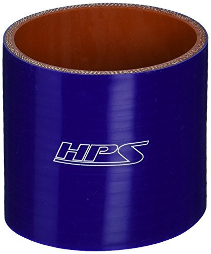 (HPS HTSC-275-BLUE Silicone High Temperature 4-ply Reinforced Straight Coupler Hose, 75 PSI Maximum Pressure, 3