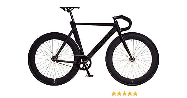 FK Cycling Bicicleta Fixie Aluminio derail llanta 70mm Negra (Drop ...