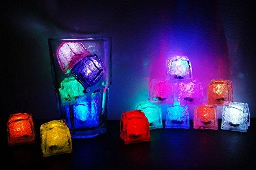 Topaz Jewel Rose - Set of 15 Litecubes Brand DELUXE SAMPLER PACK Light up LED Ice Cubes