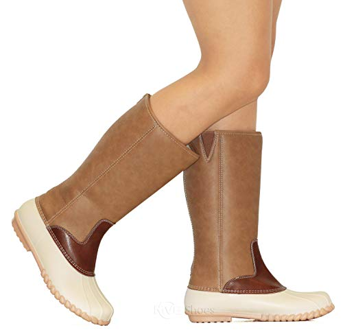 MVE Shoes Women's Rain Duck Boots Taupe*a6