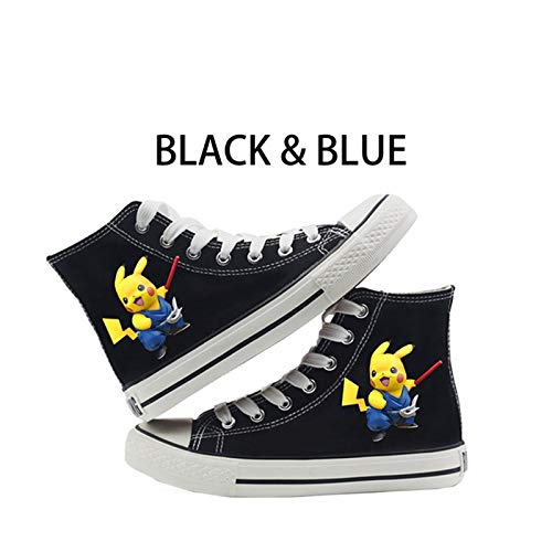Shoes Multicolored Pattern High Heel Double-Layer Canvas for Womens Mens Cartoon Sneakers Anime Fan Top Colletion 2019 Stuff Clothing Teen (Best Sword Anime 2019)
