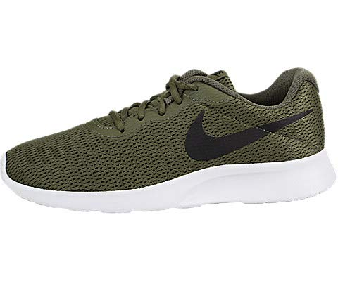 00069715ebec7 Nike Mens Tanjun Medium Running Sneakers Olive Black 812654-200 (9.5 D(M)  US)