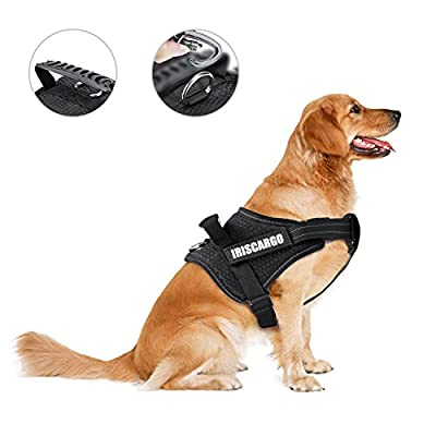 IrisCargo Dog Harness Adjustable Reflective Pet Vest with Easy Control Handle for Large Medium Small Dogs