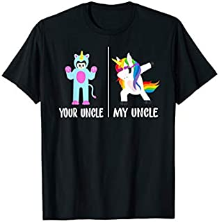 Cool Gift Your Uncle Horse My Uncle Unicorn Funny  Gift Kids Women Long Sleeve Funny Shirt / Navy / S - 5XL