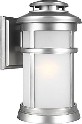 Feiss SF283BS Perry Opal Glass Semi Flush Ceiling Lighting, Satin Nickel