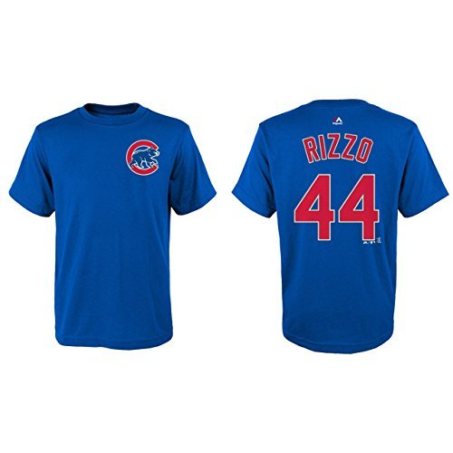 Chicago Cubs Youth Anthony Rizzo Name and Number T-Shirt - Royal #44 Youth Medium 10/12 Anthony Graphic T-shirt