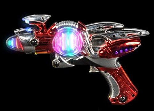 Light- Up Toy Gun - Red Laser Space Gun Blaster Toy -Noise (Laser Blaster)