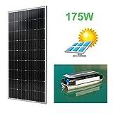 Homgrace Portable Moncrystalline Solar Panel Module 170W Boat Car Solar Battery Charger (170W, Moncrystalline Solar Panel)