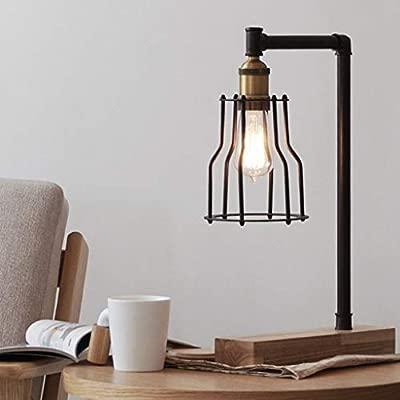 GBX Lámpara de escritorio nórdica Loft Lámpara de mesa industrial ...