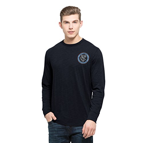 fan products of MLS New York City FC Men's Stadium Long Sleeve Scrum Tee, Fall Navy, Large