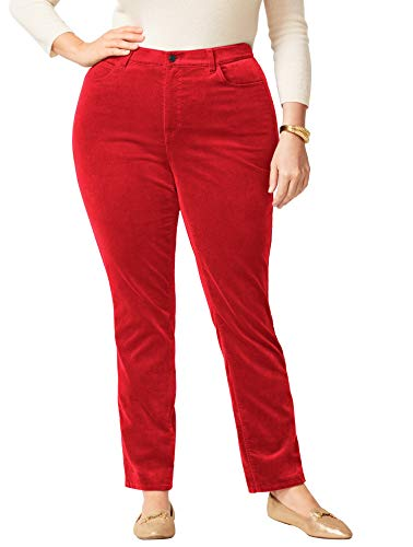Talbots High-Rise Velveteen Straight-Leg Pants - Plus Size 22 Classic ()
