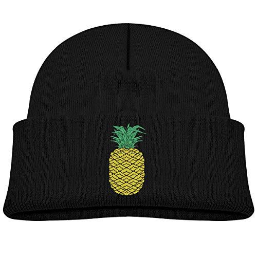 (JENNIFERHARRISON Pineapple Cotton Fleece Baby Adolescent Winter Warm Hat,Cute Beanie Knit Cap for Girls and Boys)