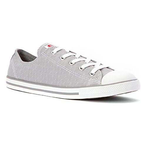 6666e8446d9e Converse Chuck Taylor All Star Womens Dainty Ox Dolphin Grey Stitched  Pattern 547308F (7) - Buy Online in UAE.