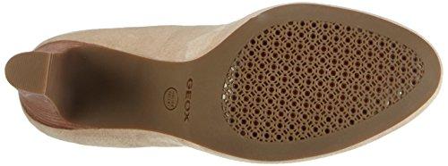 Beige cuero NEW zapatos MARIECLAIRE de cerrados de Taupe Lt D Geox HI tacón mujer C6738 aqUwPPz4