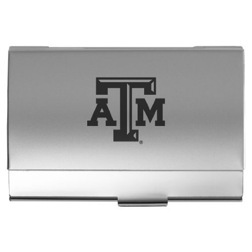 (LXG, Inc. Texas A&M University - Two-Tone Business Card Holder - Silver)