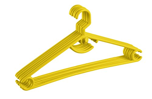 All Time Polymer Hanger (Yellow, Set of 6)