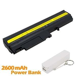 Battpit Bateria de repuesto para portátiles IBM ASM 08K8197 (4400 mah) con 2600mAh Banco de energía/batería externa (blanco) para Smartphone