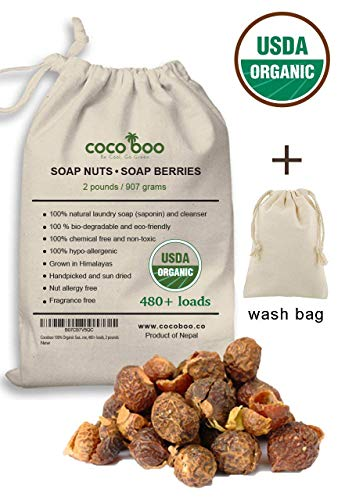(Cocoboo 100% Organic Soap Nuts, USDA Organic Certified, Handpicked & Sun Dried, Laundry Soap Hypoallergenic, Chemical Free, 480+ Loads, Include wash Bag, 2)