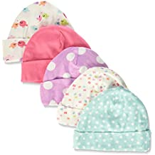Gerber Baby Girls' 5 Pack Caps