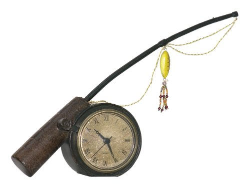Sterling Home 91-3515 Rod N' Reel Clock, 12-Inch Long