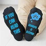 Grandpa Is Sleeping Men's Socks Papa Father Dad Funny Gifts