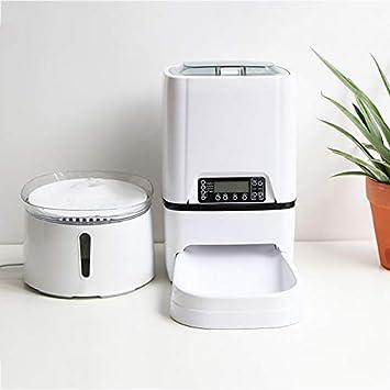 Dispensador automático de Agua Inteligente de circulación para Mascotas, diseñado para Perros y Gatos + alimentador de Mascotas: Amazon.es: Hogar