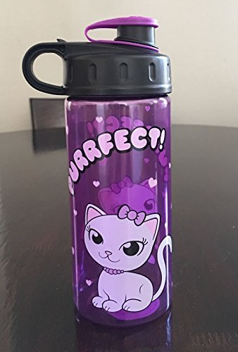 Cool Gear 16 fl oz Purple Water Bottle emoji PURRFECT! Cat Kids Water Bottle BPA Free