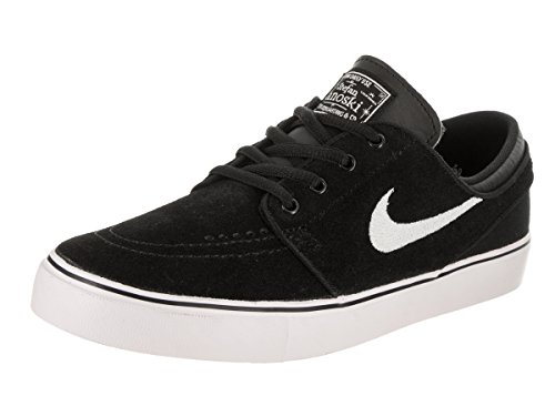 NIKE Kids Stefan Janoski (GS) Black/White Gum Med Brown Skate Shoe 4.5 Kids US (Ape Skate)