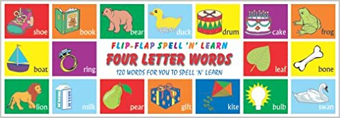Flip Flap Spell 'N' Learn Four Letter Words: 9788182522381: Amazon