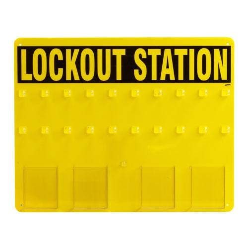 Brady 45523 Prinzing Lockout Board Only, Capacity, Volume, Standard, Black On Yellow