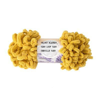 (200g Puffy Velvet Blanket Yarn Bulky Yellow Chenille Yarn Loop Yarn Polyester Chenille Finger Yarn Knit Pillow Yarn )